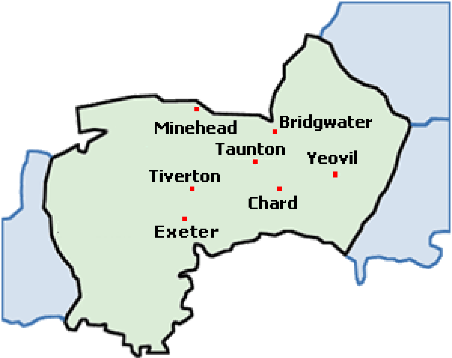 Areas Covered Somerset